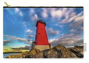 Lighthouse Manistique Sunset -5350 Carry-all Pouch