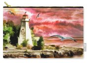 Lighthouse, Ocean, Sunset Carry-all Pouch