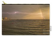 Lightning And Rainbow, Fort Myers Beach, Fl Carry-all Pouch