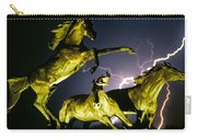 Lightning At Horse World Fine Art Print Carry-all Pouch