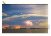 Lightning At Sunset With Star Trails Carry-all Pouch