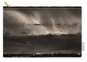Lightning Cloud Burst Boulder County Colorado Im39 Sepia Carry-all Pouch