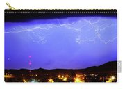 Lightning Over Loveland Colorado Foothills Panorama Carry-all Pouch