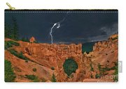 Lightning Over Natural Bridge Formation Bryce Canyon National Park Utah Carry-all Pouch by Dave Welling
