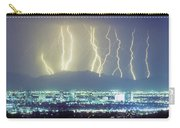 Lightning Over Phoenix Arizona Panorama Carry-all Pouch
