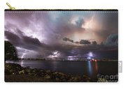 Lightning Over The Sanibel Bridge Carry-all Pouch