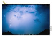 Lightning Rainbow Blues Carry-all Pouch
