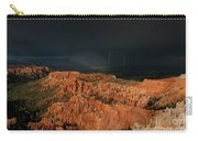 Lightning Rainbow Over Hoodoos Bryce Canyon National Park Utah Carry-all Pouch