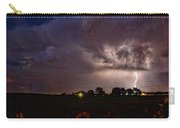 Lightning Stormy Weather Of Sunflowers Carry-all Pouch
