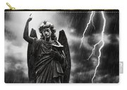 Lightning Strikes The Angel Gabriel Carry-all Pouch by Amanda Elwell