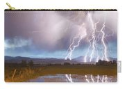 Lightning Striking Longs Peak Foothills 4 Carry-all Pouch