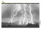 Lightning Striking Longs Peak Foothills 4cbw Carry-all Pouch