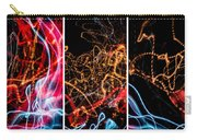 Lightpainting Triptych Wall Art Print Photograph 5 Carry-all Pouch