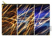 Lightpainting Triptych Wall Art Print Photograph 6 Carry-all Pouch