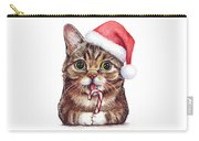 Cat Santa Christmas Animal Carry-all Pouch by Olga Shvartsur