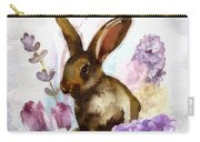 Lilac And Bunny Carry-all Pouch