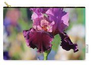 Lilac Iris In Bloom Carry-all Pouch