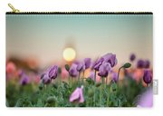 Lilac Poppy Flowers Carry-all Pouch