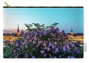 Lilacs And Sunset To Blue Hour Transition Over Gamla Stan In Stockholm Carry-all Pouch