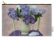 Lilacs With Chair And Shell Carry-all Pouch