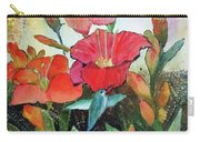 Lilies And Hummingbird Carry-all Pouch