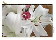 Lilies And Roses Carry-all Pouch