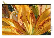 Lilies Art Prints Orange Lily Flowers 2 Gilcee Prints Baslee Troutman Carry-all Pouch