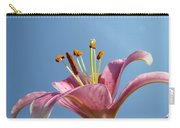 Lilies Art Prints Pink Lily Flower Giclee Art Prints Baslee Troutman Carry-all Pouch