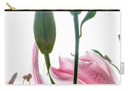 Pink Oriental Starfire Lilies Carry-all Pouch