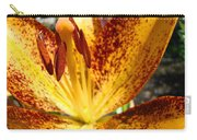 Lilies Glowing Orange Lily Flower Floral Art Print Canvas Baslee Troutman Carry-all Pouch