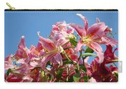 Lilies Pink Lily Flowers Art Prints Floral Summer Garden Baslee Troutman Carry-all Pouch