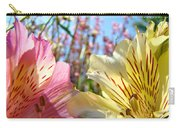 Lilies Pink Yellow Lily Flowers Canvas Art Prints Baslee Troutman Carry-all Pouch