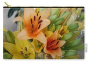 Lillies - Peach And Yellow Colors Carry-all Pouch