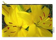 Lilly Flowers Art Prints Yellow Lilies Floral Baslee Troutman Carry-all Pouch