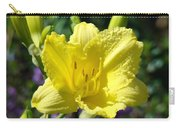 Lily Flower Art Print Canvas Yellow Lilies Baslee Troutman Carry-all Pouch