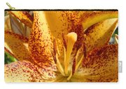 Lily Flower Macro Orange Lilies Floral Art Print Baslee Troutman Carry-all Pouch