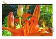 Lily Flowers Garden Art Prints Orange Lilies Floral Baslee Troutman Carry-all Pouch