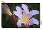 Lily In The Rain By Flower Photographer David Perry Lawrence Carry-all Pouch
