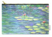 Lily Pads Triptych Panel Three Of Three Carry-all Pouch
