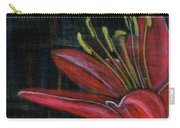 Lily Red Carry-all Pouch