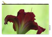 Lily Red On Green Carry-all Pouch