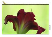 Lily Red On Yellow Green - Daylily Carry-all Pouch