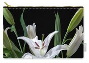 A White Oriental Lily Surrounded Carry-all Pouch