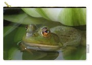 Lilyfrog - Frog With Water Lily Carry-all Pouch