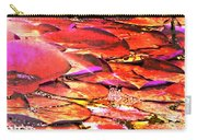 Crimson Lilypads Floating.. Carry-all Pouch