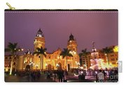 Lima Cathedral And Plaza De Armas At Night Carry-all Pouch
