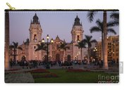 Lima Cathedral At Night Carry-all Pouch