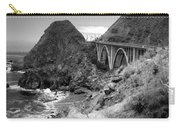 Lime Creek Bridge Highway 1 Big Sur Ca B And W Carry-all Pouch