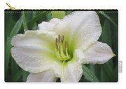 Lime Frost - Daylily Carry-all Pouch