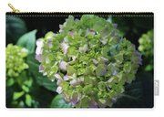 Lime-green Hydrangea Carry-all Pouch